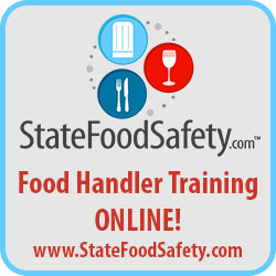 As an alternative to the class, you may take the test through StateFoodSafety.com. For this option, there is a $20 fee payable to State Food Safety.